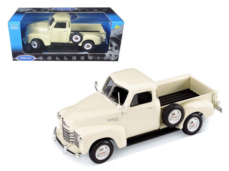 1953 Chevrolet 3100 Pickup Truck Cream 1/18 Diecast Car Model by Welly - BeTovi&co