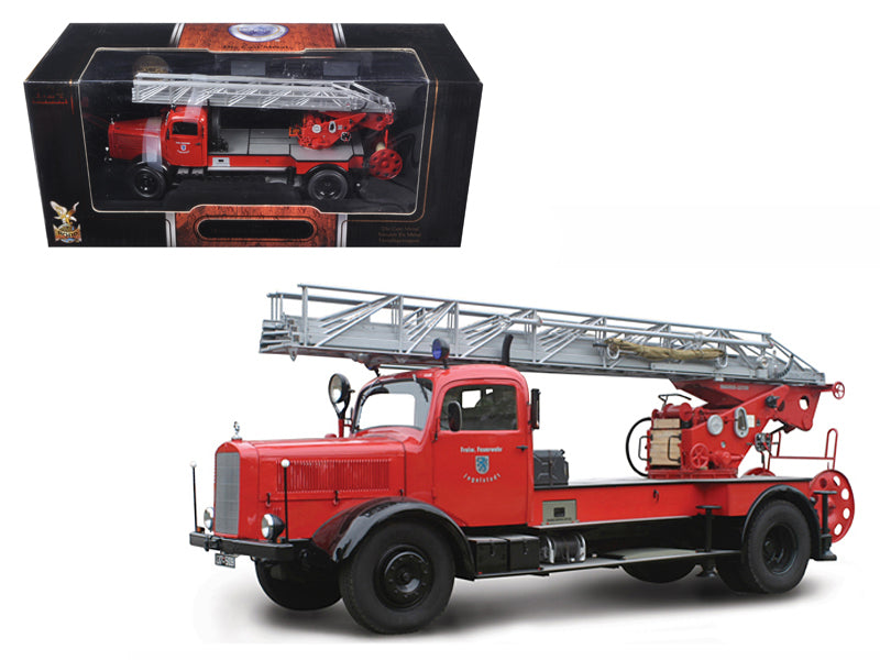 1944 Mercedes L4500F Fire Engine Red 1/24 Diecast Car by Road Signature - BeTovi&co