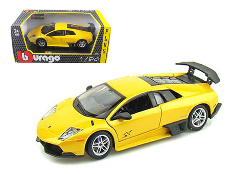 2010 Lamborghini Murcielago LP 670-4 SV Yellow 1/24 Diecast Model Car by Bburago - BeTovi&co