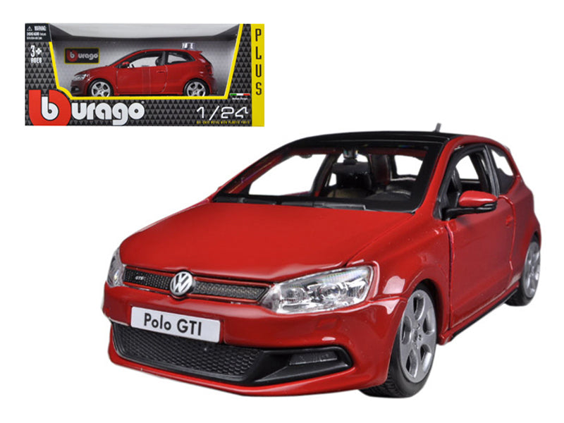 Volkswagen Polo GTI Mark 5 Red 1/24 Diecast Car Model by Bburago - BeTovi&co