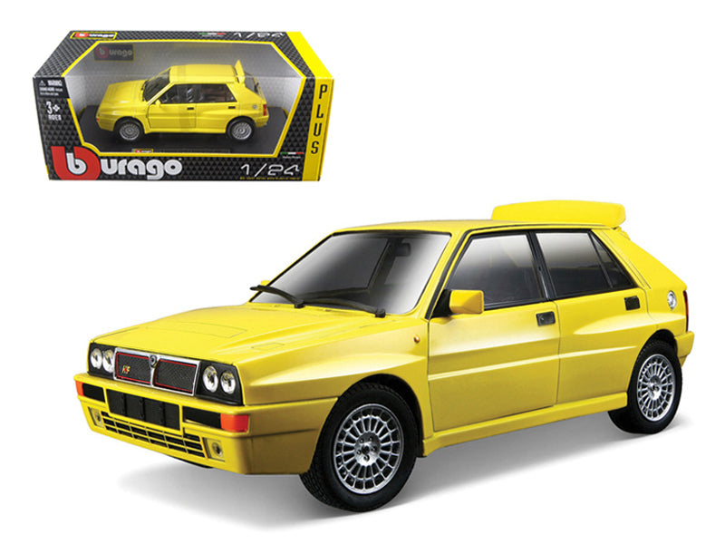 Lancia Delta HF Integrale Evo 2 Yellow 1/24 Diecast Car Model by Bburago - BeTovi&co