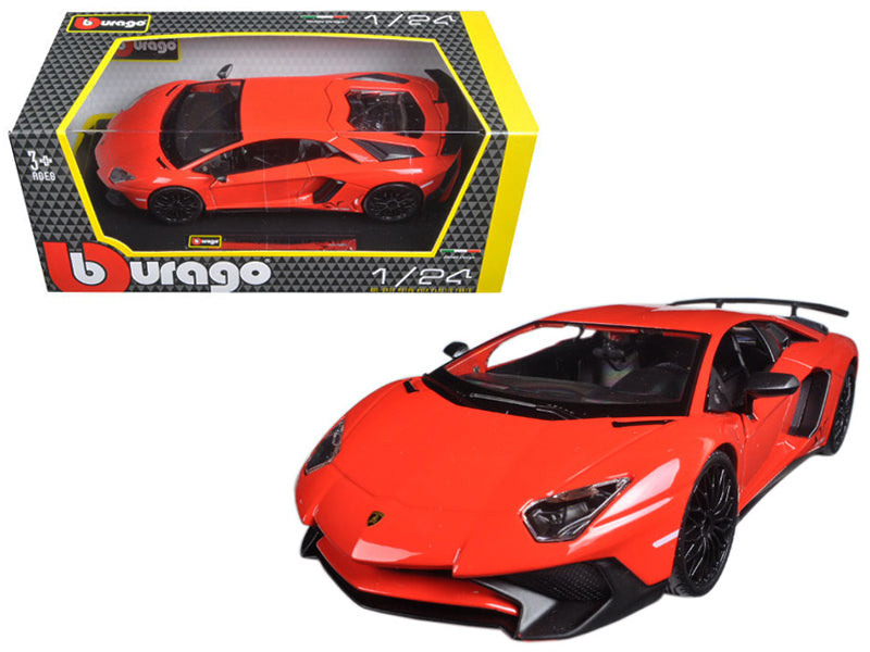 Lamborghini Aventador LP750-4 Red 1/24 Diecast Model Car by Bburago - BeTovi&co