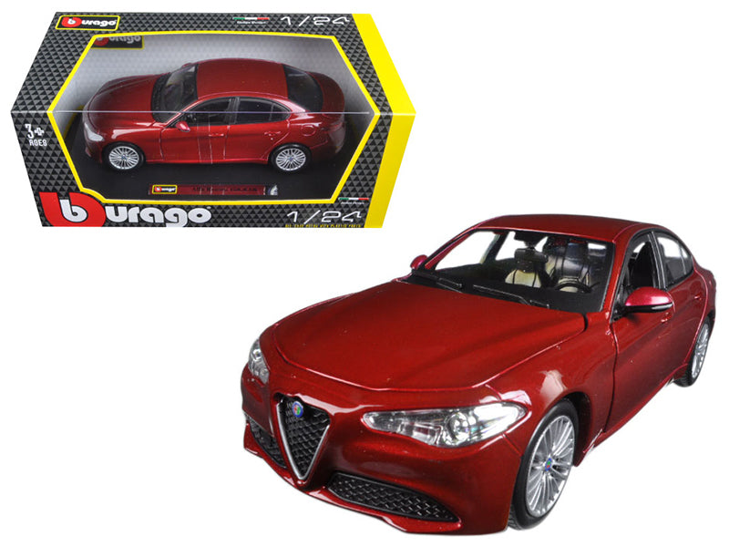 2016 Alfa Romeo Giulia Burgundy 1/24 Diecast Model Car by Bburago - BeTovi&co