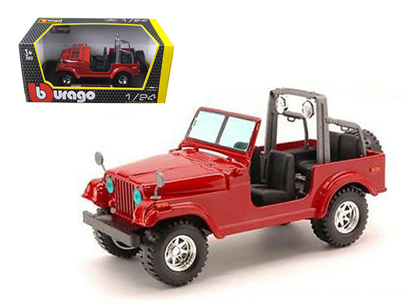 Jeep Wrangler Red 1/24 Diecast Car Model by Bburago - BeTovi&co