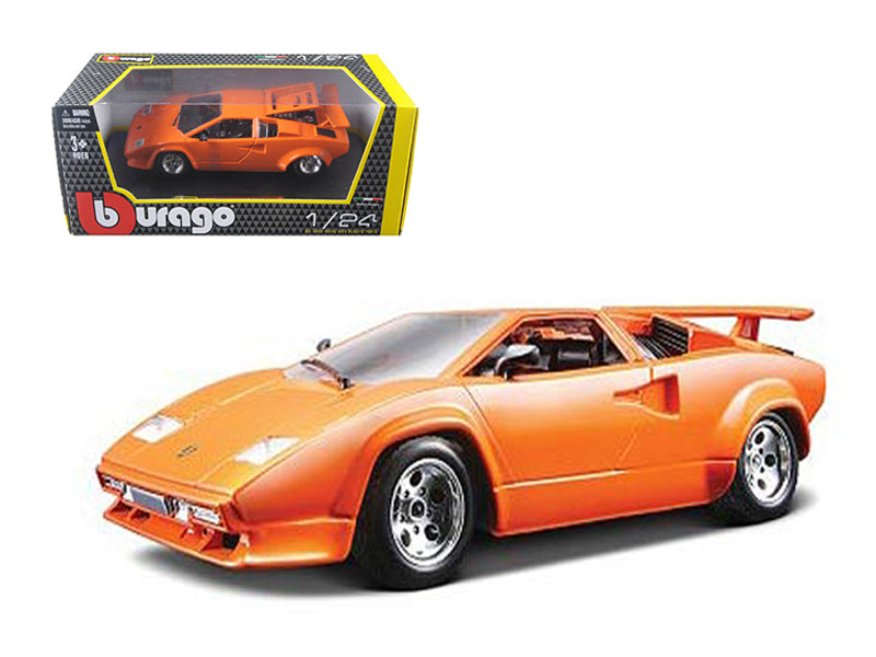 Lamborghini Countach 5000 Orange 1/24 Diecast Model Car by Bburago - BeTovi&co