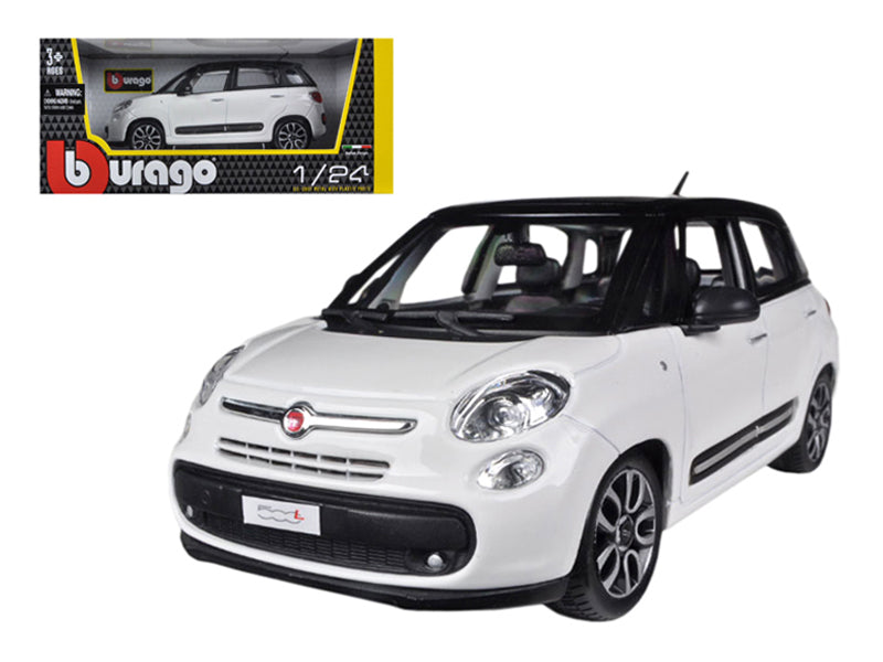 Fiat 500L White 1/24 Diecast Car Model by Bburago - BeTovi&co