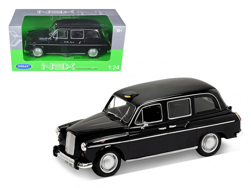 Austin FX4 London Taxi Black 1/24 Diecast Model Car by Welly - BeTovi&co
