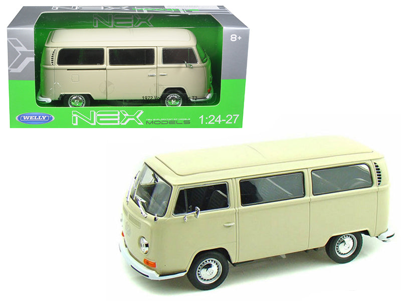 1972 Volkswagen Bus Van T2 Cream 1/24 Diecast Model by Welly - BeTovi&co