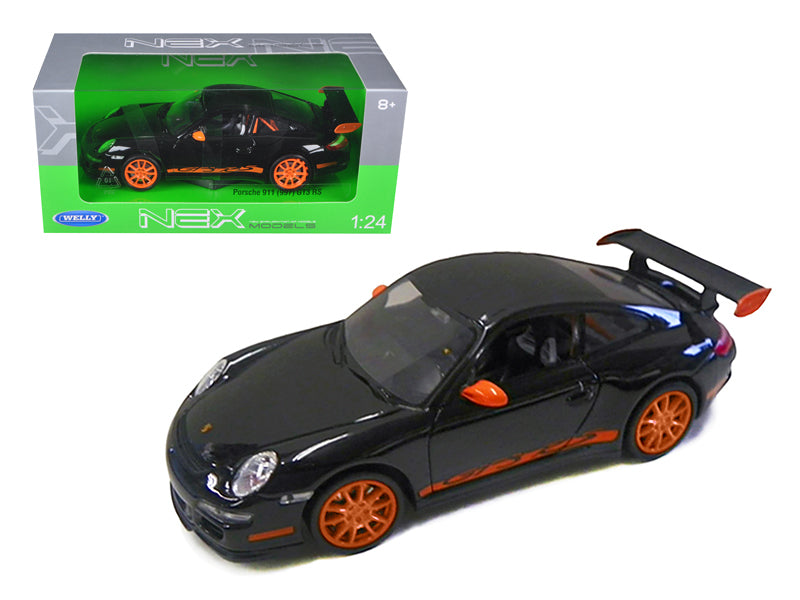 Porsche 911 (997) GT3 RS Black 1/24 Diecast Car by Welly - BeTovi&co
