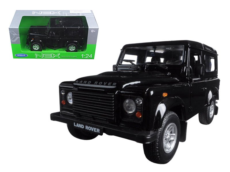 Land Rover Defender Black 1/24 Diecast Model Car by Welly - BeTovi&co