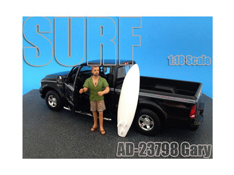 Surfer Gary Figure For 1:18 Diecast Model Cars by American Diorama - BeTovi&co