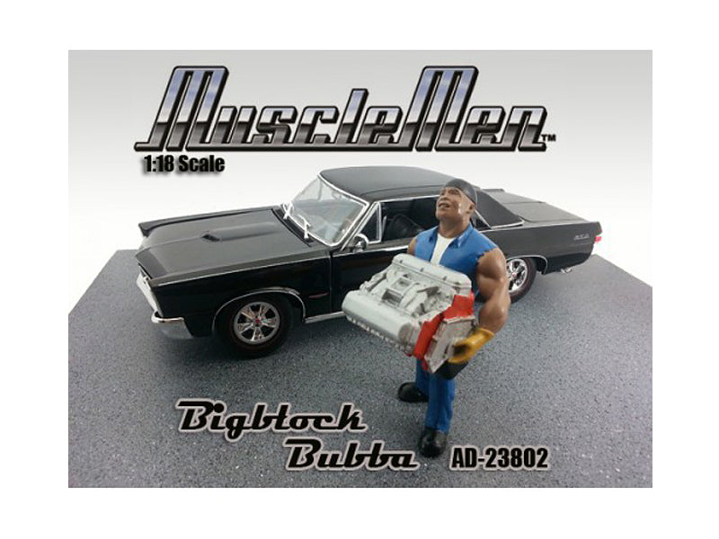 Musclemen Bigblock Bubba Figure for 1:18 Diecast Car Models by American Diorama - BeTovi&co