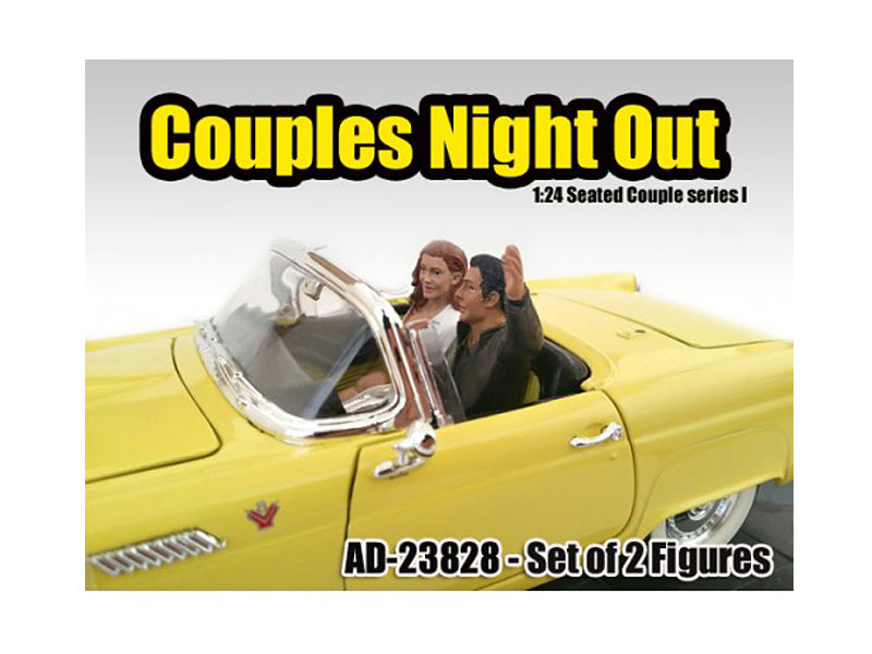 Seated Couple 2 Piece Figure Set Release 1 for 1:24 Models by American Diorama - BeTovi&co