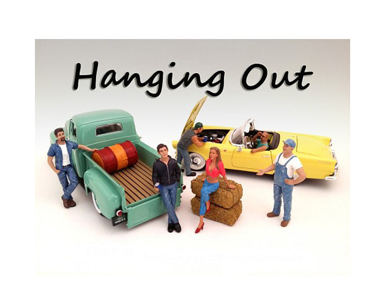 'Hanging Out' 6 Piece Figure Set For 1:18 Scale Models by American Diorama - BeTovi&co