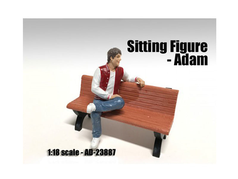 Sitting Figure Adam For 1:18 Scale Models by American Diorama - BeTovi&co