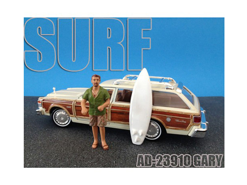 Surfer Gary Figure For 1:24 Diecast Model Cars by American Diorama - BeTovi&co