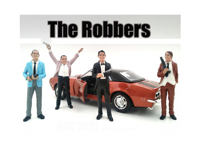 'The Robbers' 4 Piece Figure Set For 1:24 Scale Models by American Diorama - BeTovi&co