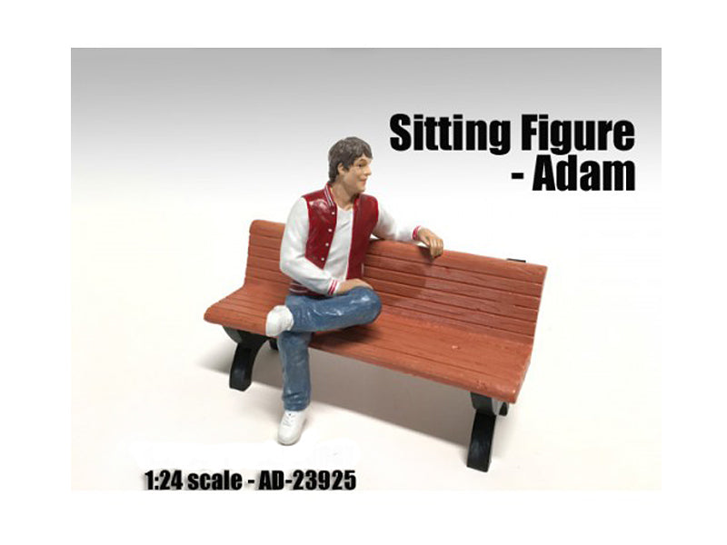 Sitting Figure Adam For 1:24 Scale Models by American Diorama - BeTovi&co
