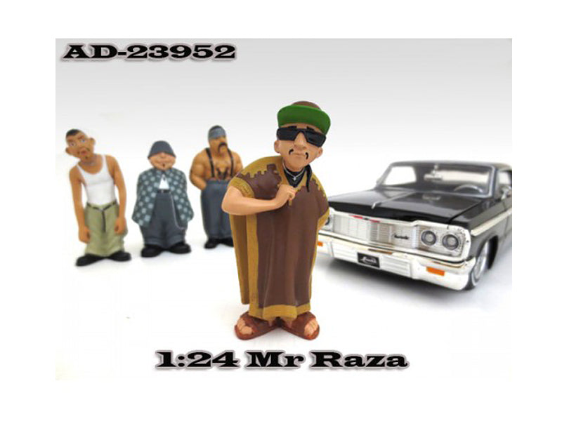 "Mr. Raza \Homies"" Figure For 1:24 Scale Diecast Model Cars by American Diorama"" - BeTovi&co"