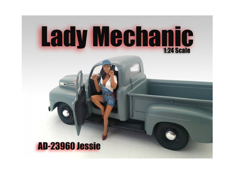Lady Mechanic Jessie Figure For 1:24 Scale Models by American Diorama - BeTovi&co