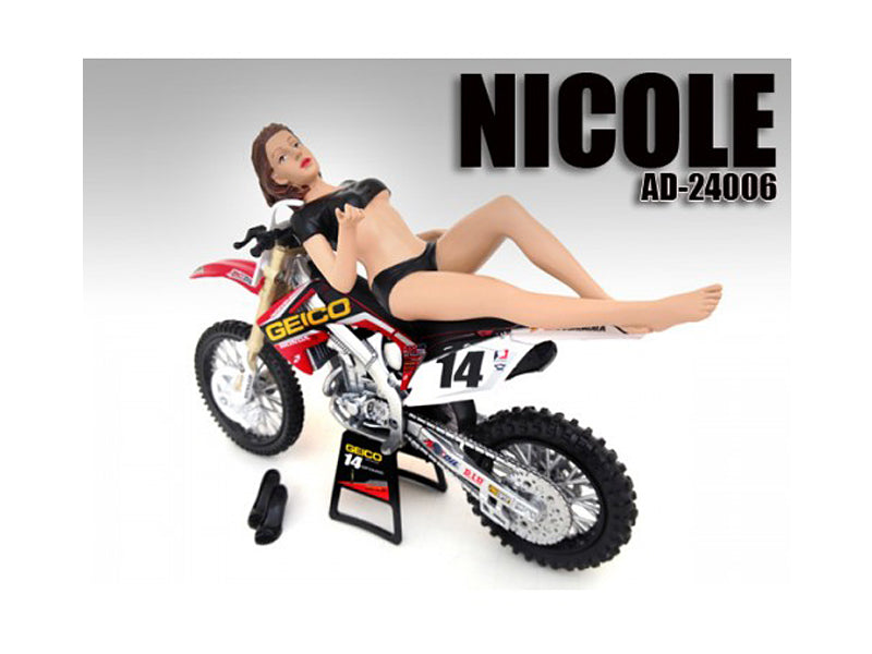 Model Nicole Figure / Figurine For 1:12 Scale Motorcycles by American Diorama - BeTovi&co