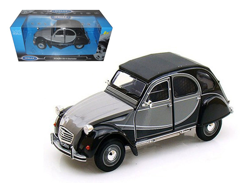Citroen 2CV 6 Charleston Grey 1/24 Diecast Car Model by Welly - BeTovi&co