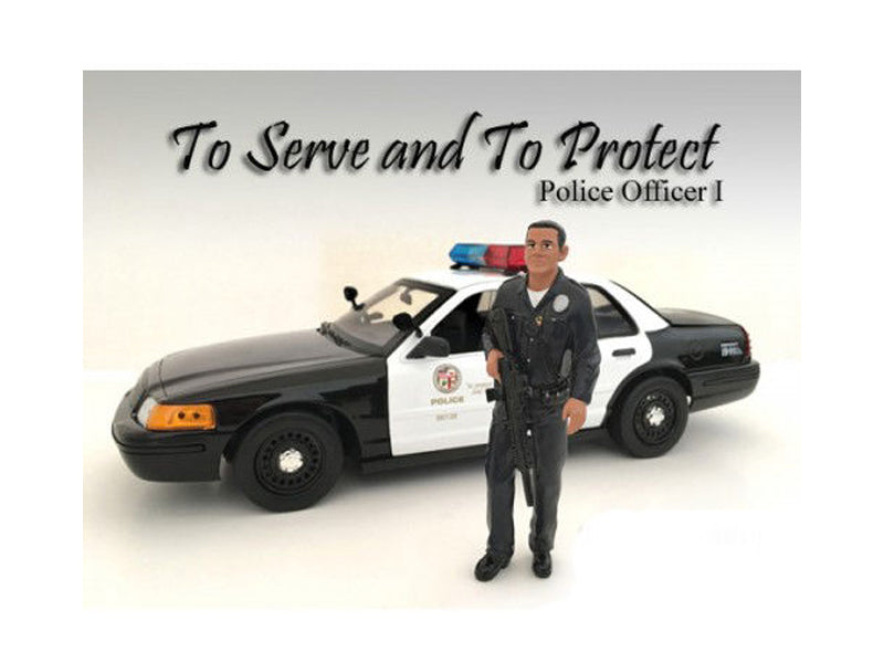 Police Officer I Figure For 1:18 Scale Models by American Diorama - BeTovi&co