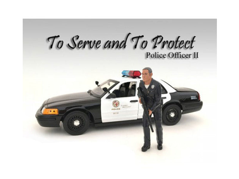 Police Officer II Figure For 1:18 Scale Models by American Diorama - BeTovi&co