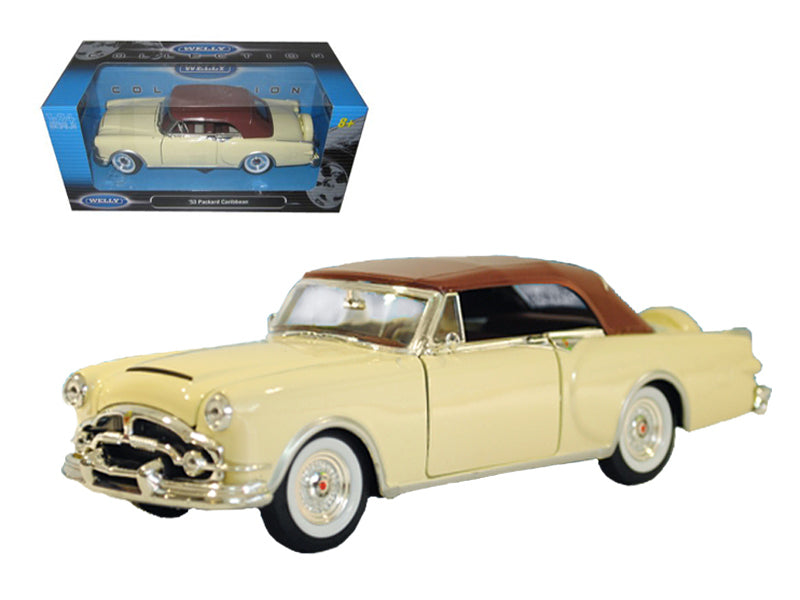 1953 Packard Caribbean Soft Top Cream 1/24 Diecast Car Model by Welly - BeTovi&co