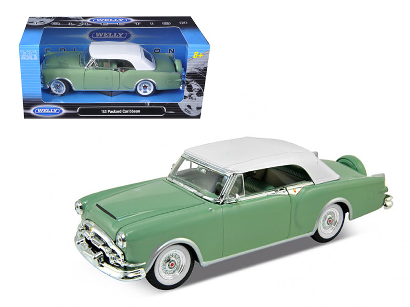 1953 Packard Caribbean Soft Top Green 1/24 Diecast Car Model by Welly - BeTovi&co