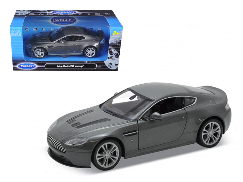 2010 Aston Martin V12 Vantage Grey 1/24 Diecast Model Car by Welly - BeTovi&co