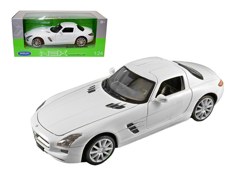 Mercedes SLS AMG White 1/24 Diecast Model Car by Welly - BeTovi&co