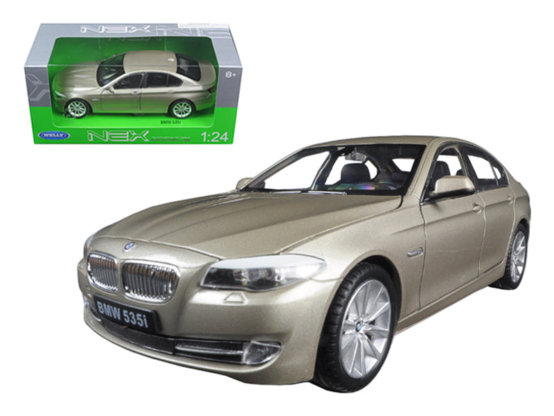 2010 BMW (F10) 535i 5 Series Gold 1/24 Diecast Model Car by Welly - BeTovi&co