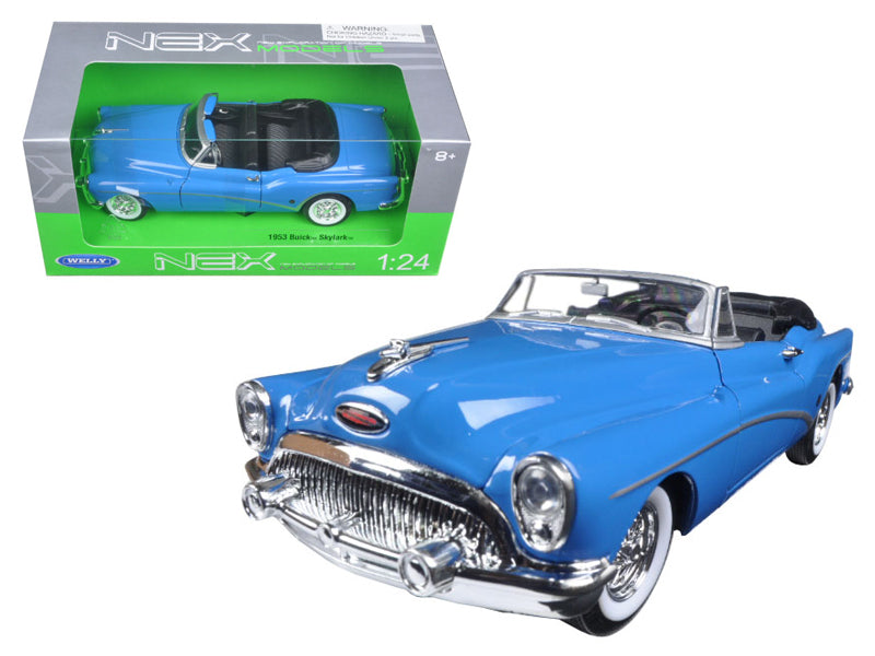 1953 Buick Skylark Convertible Blue 1/24 Diecast Model Car by Welly - BeTovi&co