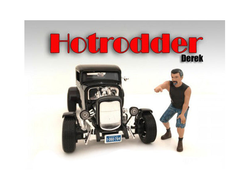 'Hotrodders' Derek Figure For 1:24 Scale Models by American Diorama - BeTovi&co