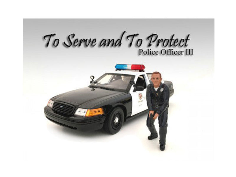 Police Officer III Figure For 1:24 Scale Models by American Diorama - BeTovi&co