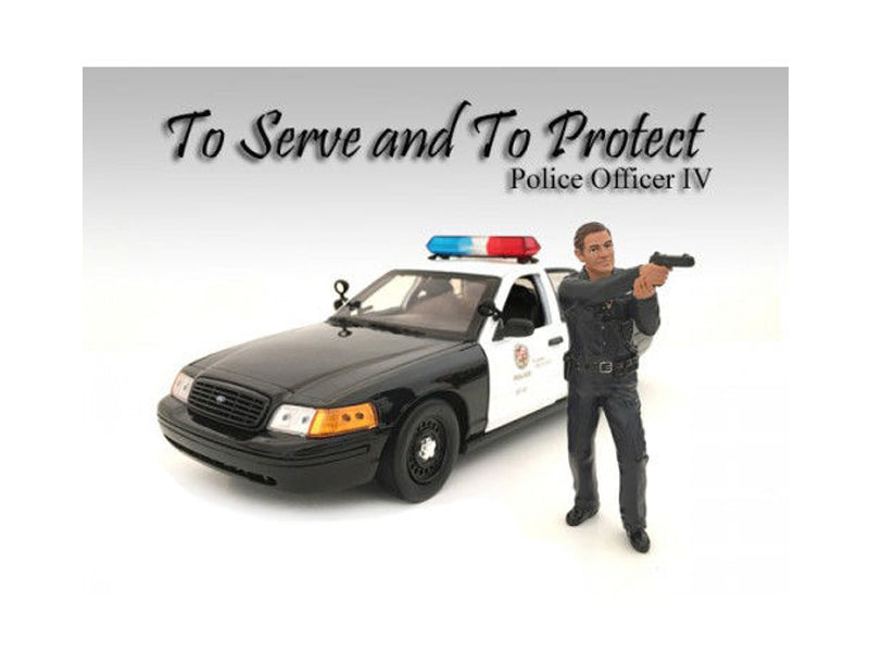 Police Officer IV Figure For 1:24 Scale Models by American Diorama - BeTovi&co