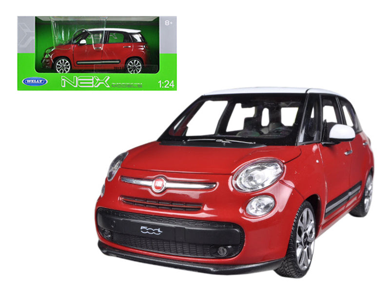 2013 Fiat 500L Red 1/24 Diecast Car Model by Welly - BeTovi&co