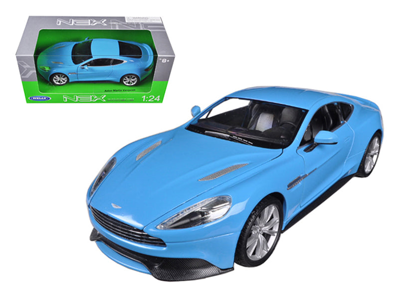 Aston Martin Vanquish Blue 1/24 Diecast Car Model by Welly - BeTovi&co