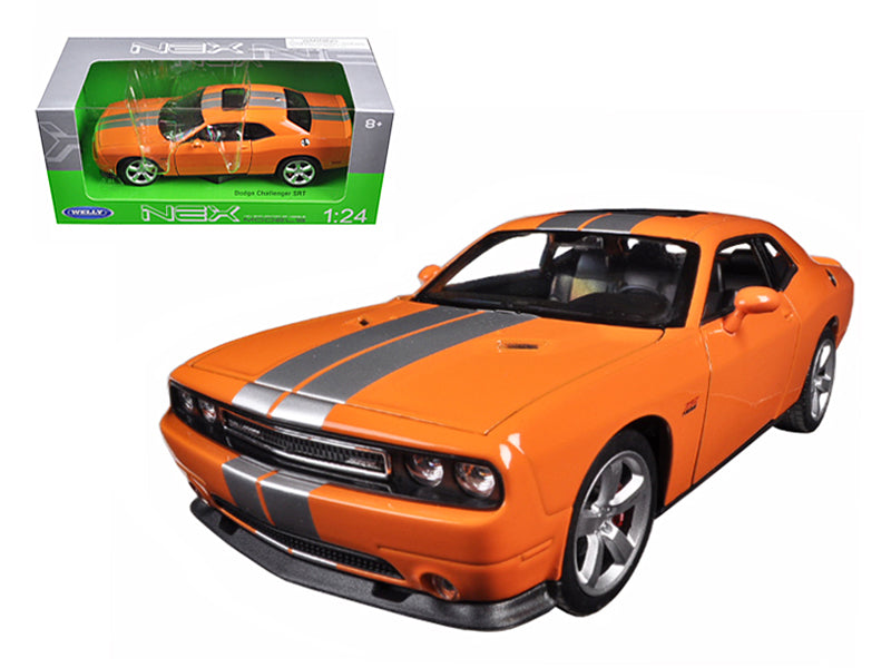 2013 Dodge Challenger SRT Orange 1/24 Diecast Model Car by Welly - BeTovi&co