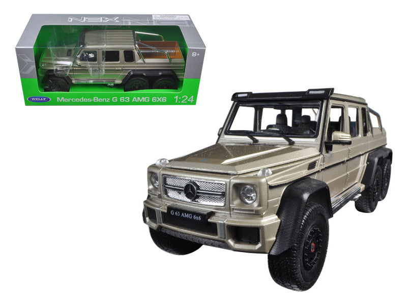 Mercedes G 63 AMG 6X6 Gold 1/24 Diecast Model Car by Welly - BeTovi&co