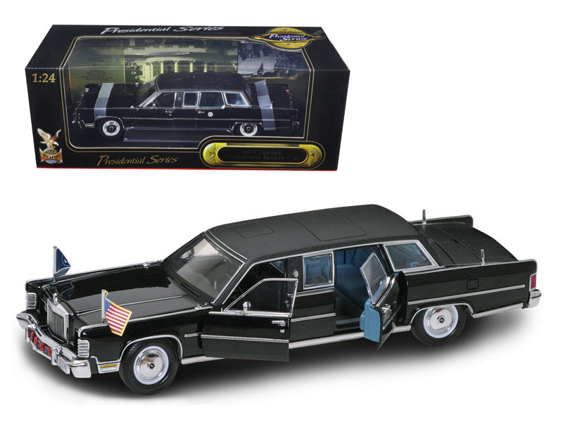 1972 Lincoln Continental Reagan Limousine Black 1/24 Diecast Model Car by Road Signature - BeTovi&co