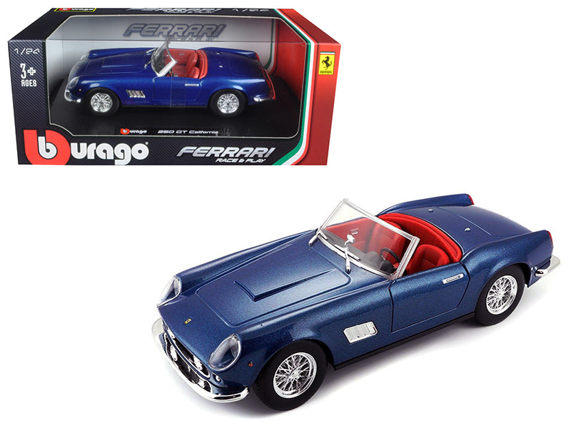Ferrari 250 GT California Spider Blue 1/24 Diecast Model Car by Bburago - BeTovi&co