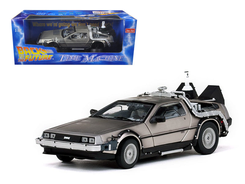 "Delorean Time Machine From \Back To The Future II"" Movie 1/18 Diecast Model Car by Sunstar"" - BeTovi&co"