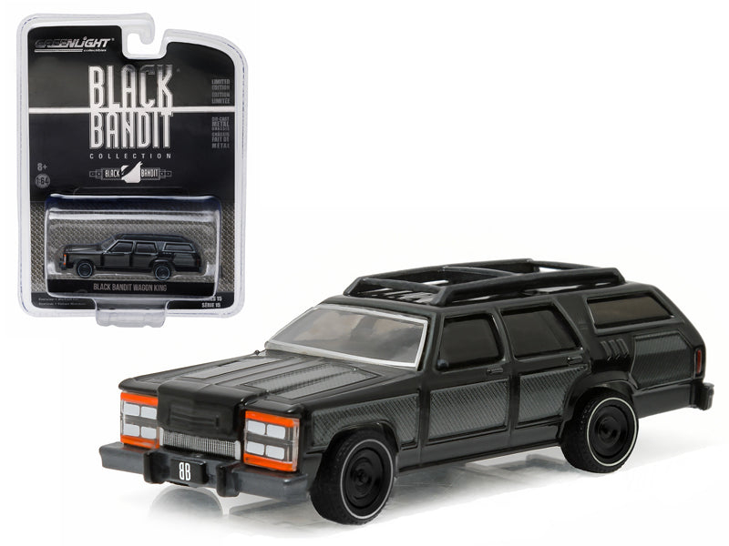 Black Bandit Wagon King 1/64 Diecast Model Car by Greenlight - BeTovi&co