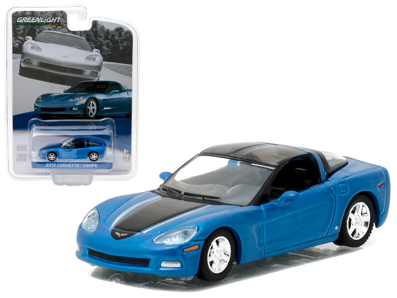 2012 Chevrolet Corvette C6 Supersonic Blue General Motors Collection Series 1 1/64 Diecast Model Car  by Greenlight - BeTovi&co