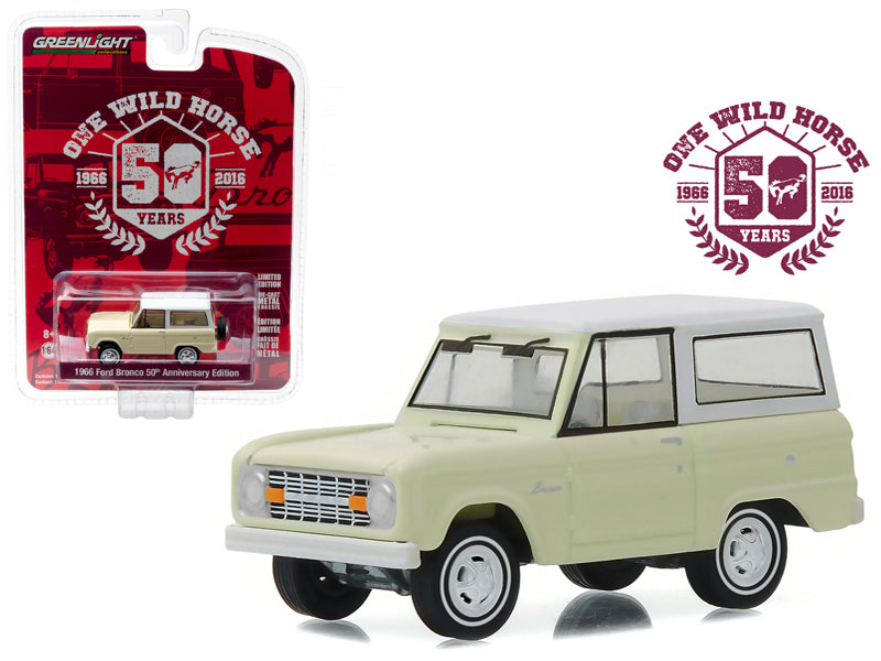 1966 Ford Bronco 50 Years Anniversary Collection Series 4 1/64 Diecast Model Car by Greenlight - BeTovi&co