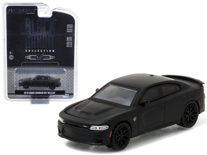 2016 Dodge Charger SRT Hellcat Black Bandit 1/64 Diecast Model Car by Greenlight - BeTovi&co