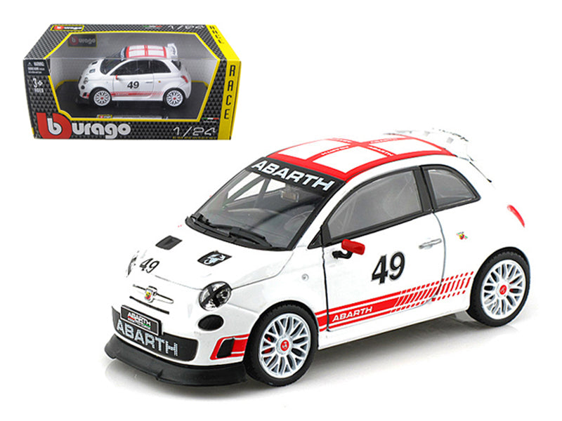 Fiat Abarth 500 #49 Assetto Course 1/24 Diecast Car Model by Bburago - BeTovi&co