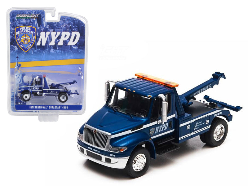 2013 International Durastar 4400 NYPD Tow Truck 1/64 Diecast Model by Greenlight - BeTovi&co